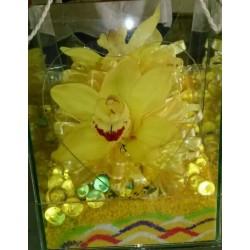Orquídea simbidium amarilla